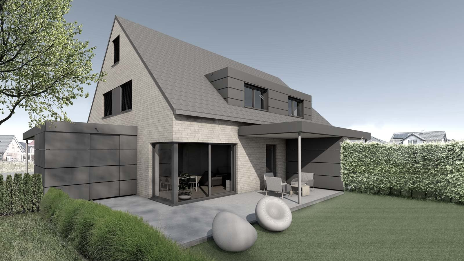 Neubau Doppelhaus in Nordwalde, Waterkamp-Immobilien, Holtfrerich Architekten