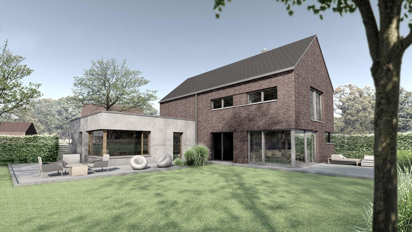 Neubau Einfamilienhaus mit Einliegerwohnung in Nordwalde, Holtfrerich Architekten