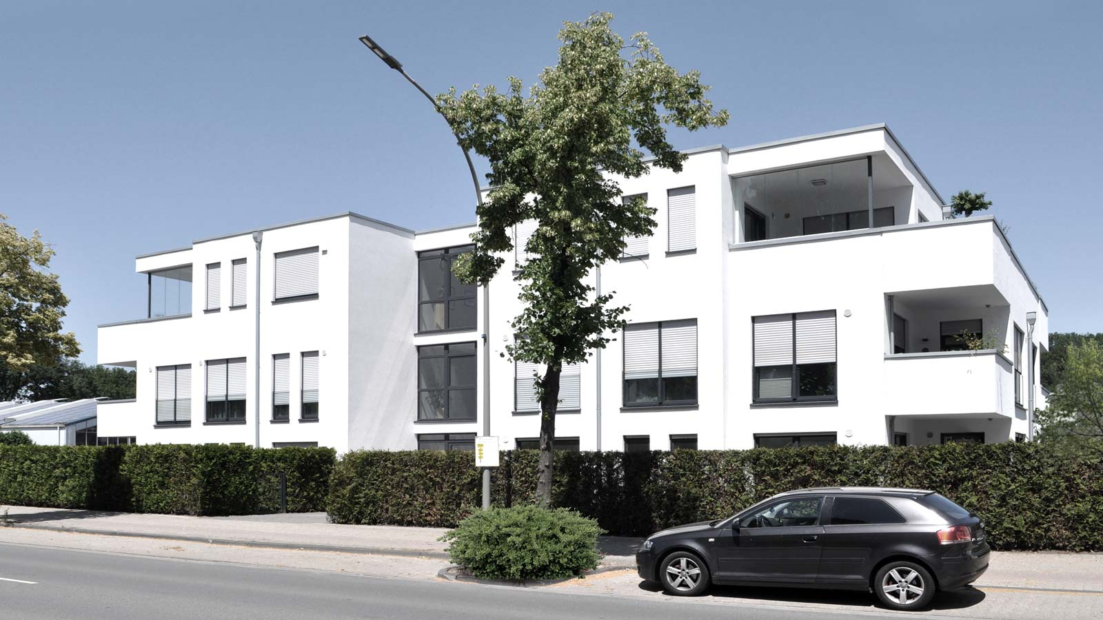 Neubau Mehrfamilienhaus, Schoo Immobilien in Nordwalde, Holtfrerich Architekten